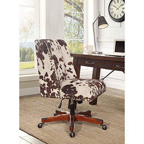 Oh! Home Violet Office Chair - Brown Print (Printed Chair Mat)