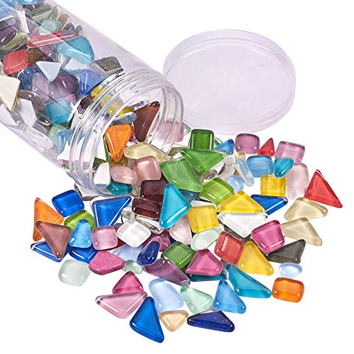 500 Crystal Piece - PH PandaHall 500g Assorted Colors Irregular Shape Pieces Mosaic Tiles Crystal Cabochons Large Piece for Home Decoration Crafts Supply DIY Handmade Project