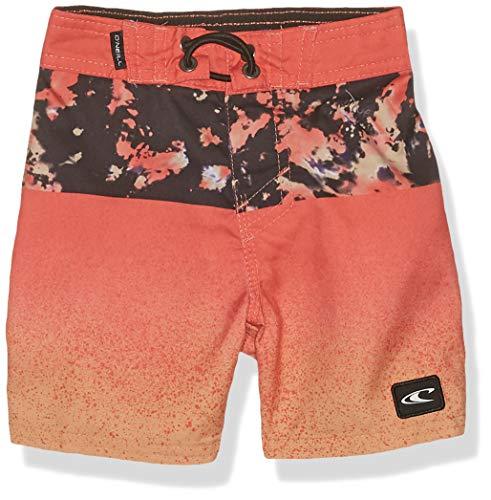 O'Neill Big Boys' 18 Inch Outseam Ultrasuede Swim Boardshort, Coral/Radicool, 27
