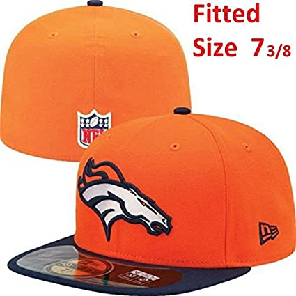 Denver Broncos New Era 5950 On-Field Fitted Tamaño 7 3 8 Sideline jugadores ca43854b63d
