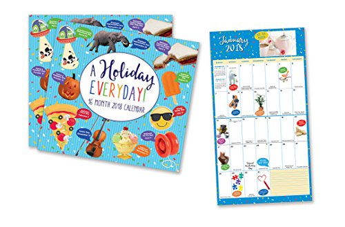 2 Count 16 Month Holiday Everyday  Calendar Includes September 2017 December 2018  Wacky And Unique Holidays For Everyday