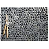 Charcoal River Stone Placemats - Set of 4