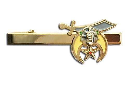 c1f1df5f59a1 Masonic Shriner - Tie Bar / Masonic Tie Clip for Free Masons with color  enamel standard