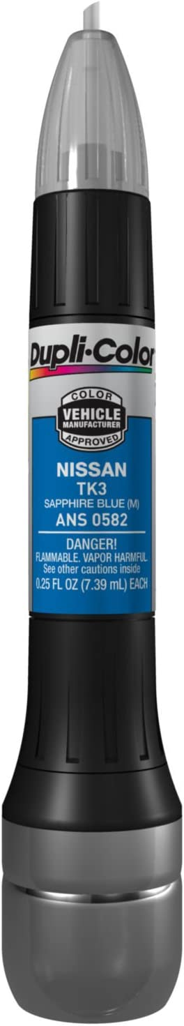 Dupli-Color ANS0582 Metallic Sapphire Blue Nissan Exact-Match Scratch Fix All-in-1 Touch-Up Paint - 0.5 oz.