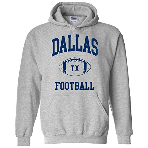- Dallas Classic Football Arch American Football Team Sports Hoodie - Large - Sport Grey