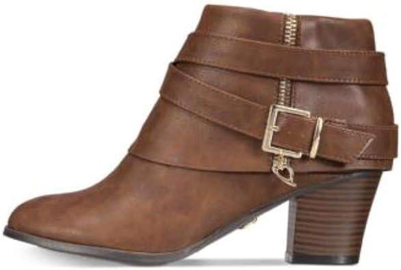 Thalia Sodi Womens Tallie Faux Leather Fold-Over Booties