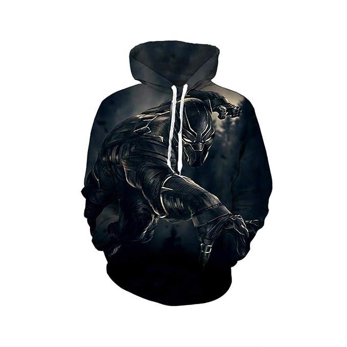 JXKEF Sudadera con Capucha Unisex, Dibujo Impreso en 3D de la Pantera Negra Sudadera con Capucha: Amazon.es: Ropa y accesorios
