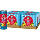V8 +Energy, Healthy Energy Drink, Natural Energy from Tea, Diet Strawberry Lemonade, 8 Fl Oz Can (6 Count (Pack of 4), Total of 24)