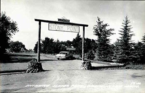 Entrance Slater Park, Stony Point Worthington, Minnesota Original Vintage - Park Stony Point