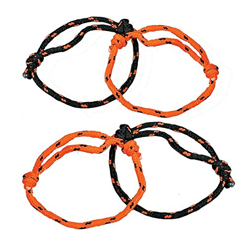 Fun Express Halloween Orange and Black Nylon Friendship Rope Bracelets - 72 (Nylon Friendship Rope Bracelets)