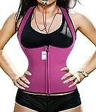 waist cincher vest corset hot sweat shapers hot waist belt women's waist trimmer shapewear strapless sauna suit for women weight loss sport gym workout yoga running rebuilding perfect body (M, Rosy)