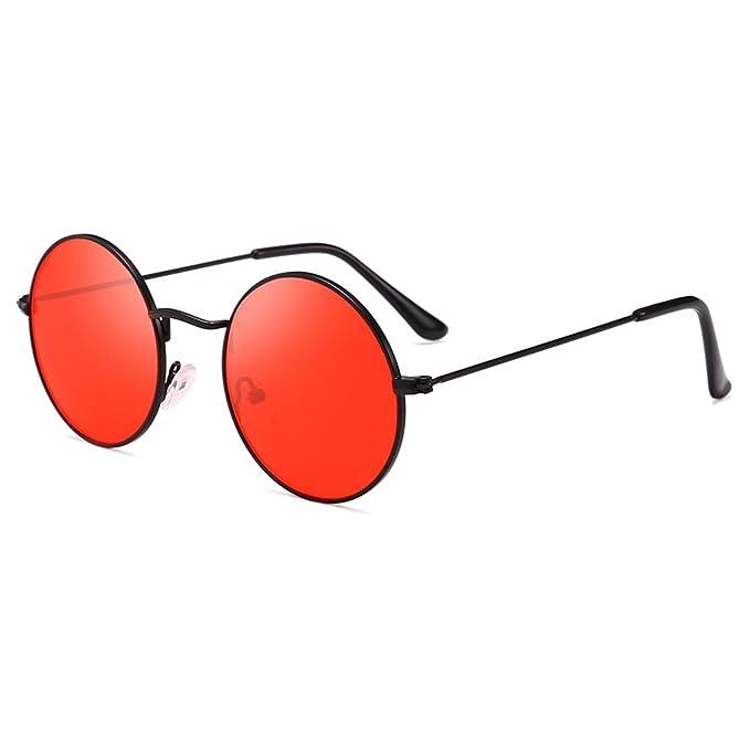 SLYlive Gafas de Sol Redondas Protección UV400, Diseño Retro ...