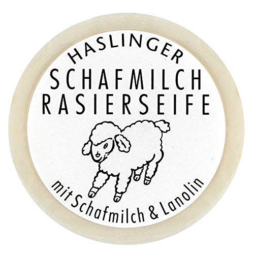 Schafmilch Rasierseife (Ewe`s Milk Shave Soap) 60g soap bar by Haslinger (Milk Shaving)