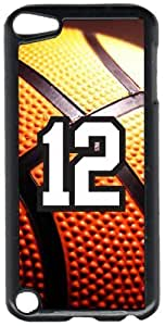 Basketball Sports Fan Player Number 12 Black Plastic Decorative iPod iTouch 5th Generation Case