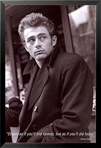 Framed James Dean Quote   Dream As Youll Live Forever 36X24 Photograph Print Poster Celebrity Movie Star Icon Hollywood