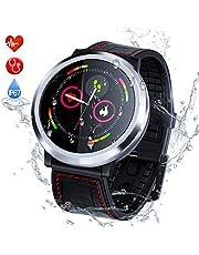 Zagzog Montre ConnectéeSmartwatch Bracelet Connecté Bluetooth,Podomètre Cardio ÉtancheIP67 Smart Watch Sport, Fitness Tracker d'Activité Moniteur de Sommeil SMS Appel Homme Femmes,pour Android/iOS