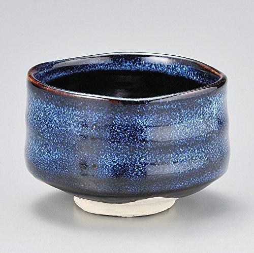 Mino Japanese Tea cup Matcha Bowl Namako Navy Y1745 From Japan by Yamakiikai