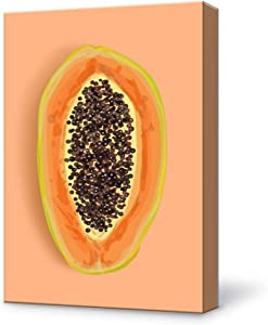 SIGNFORD Canvas Wall Art Papaya Modern Home Decor Canvas Painting Wall Decoration for Bedroom Living Room 12x18 inches