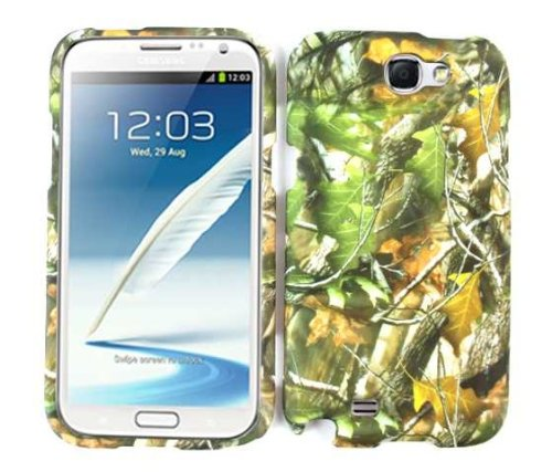 Samsung Galaxy Note2 Note 2 (2nd Generations Galaxy Note) Camo/Camouflage Hunter Series, w/ Green Leaves Hard Case/Cover/Faceplate/Snap On/Housing/Protector