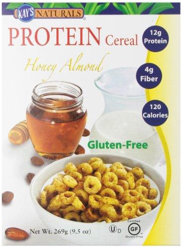 Naturals gluten protéine libre sur les céréales Honey Almond de Kay, 9,5 onces Boîtes (Pack de 6)