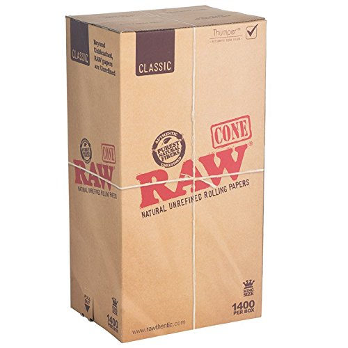 RAW CLASSIC PRE-ROLLED CONES KING SIZE (109MM) (2 Boxes- 1400/Box) - CS-0000519-1