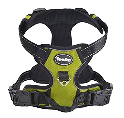 Best Front Range No-Pull Dog Harness. 3M Reflective Outdoor Adventure Pet Vest with Handle. 3 Stylish Colors and 5 Sizes