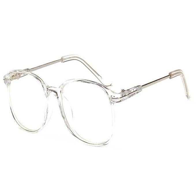 90c67ace90 Fulision Moda rotonda Occhiali lenti trasparenti Occhiali ottici ...