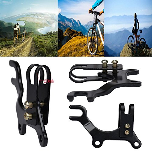 Alonea New Adjustable Bicycle Bike Disc Brake Bracket Frame Adaptor Mounting Holder (Black)