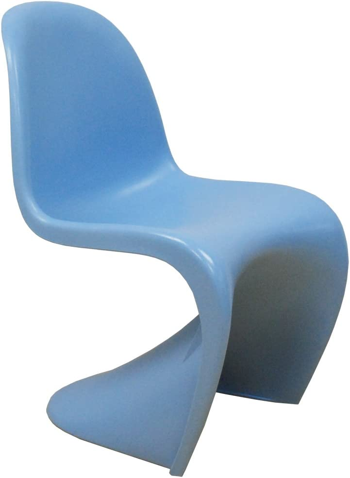 Ergo Furnishings Mid-Century Molded Plastic S Chair Dining Chair Office Chair, Blue