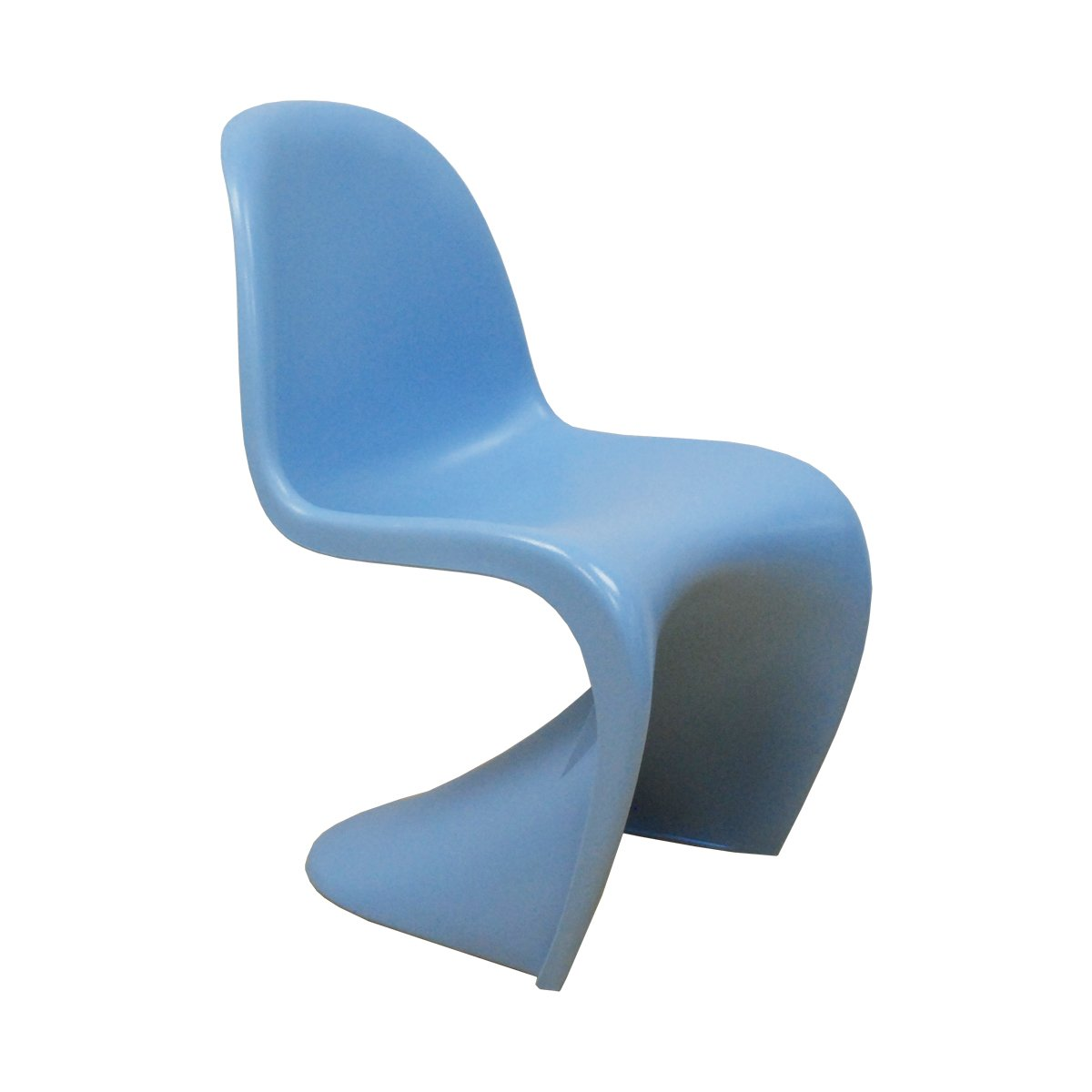 bluee Mod Made Mid Century Modern Molded Plastic S-Shape Chair Dining Chair, White