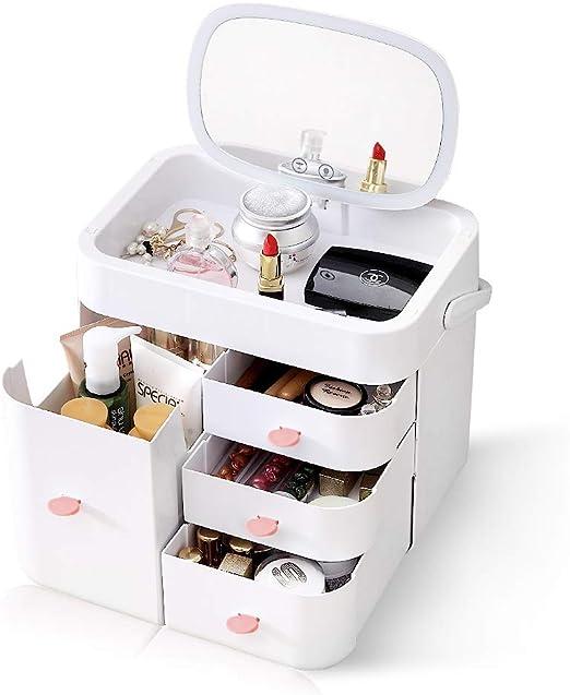 Bostar Organizador de Maquillaje Espejo, Organizador cosmético ...