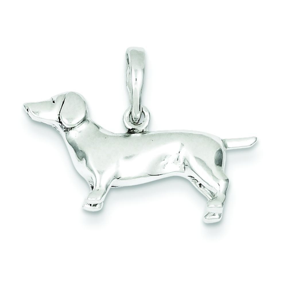 Sterling Silver Dachshund Charm & 18'' Chain