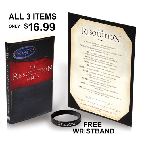 Courageous Movie Resolution Book & Certificate Bundle - as seen in the movie (The Resolution Book and Resolution Print from - Resolution Certificate
