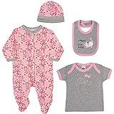 Kit 4 Peças Bebê, TipTop, Rosa, M