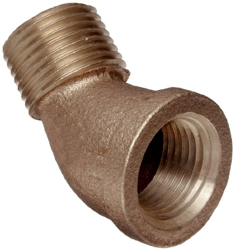 - Brass Pipe Fitting, Class 125, 45 Degree Elbow, 1/2