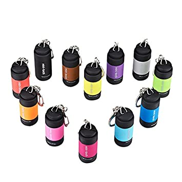 Tenflyer 0.5W Mini llavero USB Recargable LED Linterna color al azar