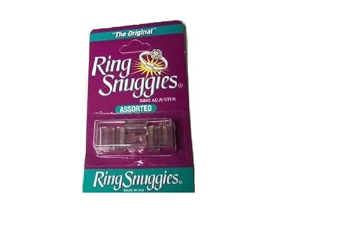 Anillo demasiado grande? Snuggies anillo de ajuste de plástico Tamaño Reductor Clip inflamados Knuckles [1 Paquete Surtido de 6]
