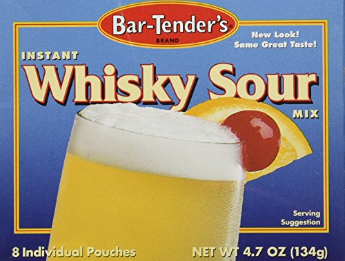 - Bar-Tenders Instant Whiskey Sour Cocktail Mix, Net Wt. 4.7 oz. (8 pouches)