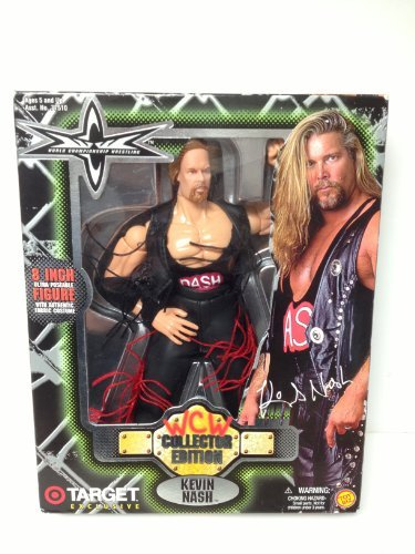 Kevin Nash Costume (KEVIN NASH - WCW WORLD CHAMPIONSHIP WRESTLING - 8 POSEABLE FIGURE WITH FABRIC COSTUME - TOY BIZ - 1999- TARGET EXCLUSIVE by WCW WORLD CHAMPIONSHIP WRESTLING)