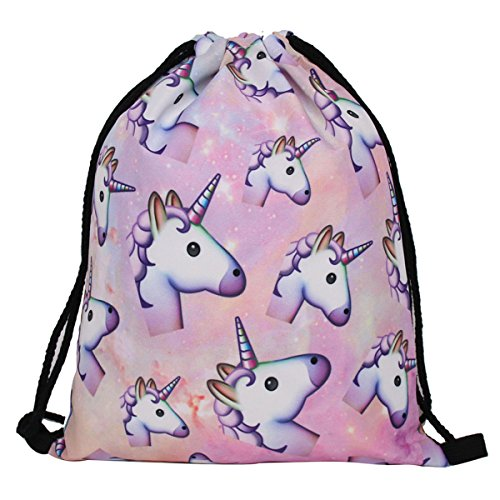 Deanfun Unicorn Backpack for Girls 3pcs set Print Rainbow Unicorn Backpack  School College Bag for f1e2220925317