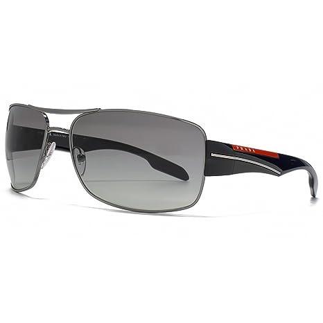 fa50d3cc5ee3 Prada Sport Metal Square Sunglasses in Gunmetal Gradient Grey PS 53NS  5AV3M1 65  Amazon.ca  Luggage   Bags