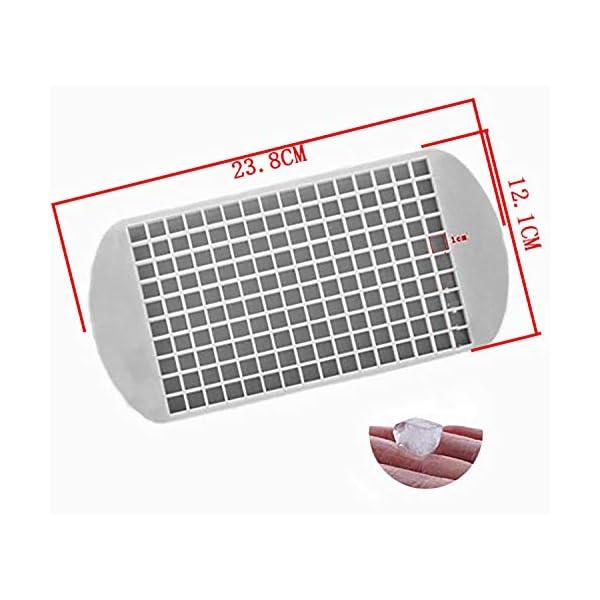 Yeemg Vaschetta del Ghiaccio Stampo per Cubetti di Ghiaccio in Silicone 160 Griglia Creatore di Cubi Muffa Congelata… 6 spesavip