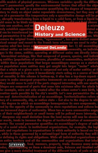 Deleuze: History and Science (Think Media Egs Media Philosophy Serie) ebook