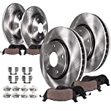 Detroit Axle - Complete FRONT & REAR Brake Rotors & Ceramic Brake Pads w/Hardware fits 2013 2014 2015 2016 Ford Fusion Except Energy Plug-In Hybrid & 2013-2017 Lincoln MKZ Hybrid Only