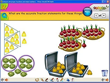 Amazon.com : InterActive Math Lessons: Fractions & Probability ...