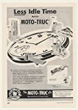 1955 Moto-Truc Lift Truck Less Idle Time Trade Original Print Ad (48044)