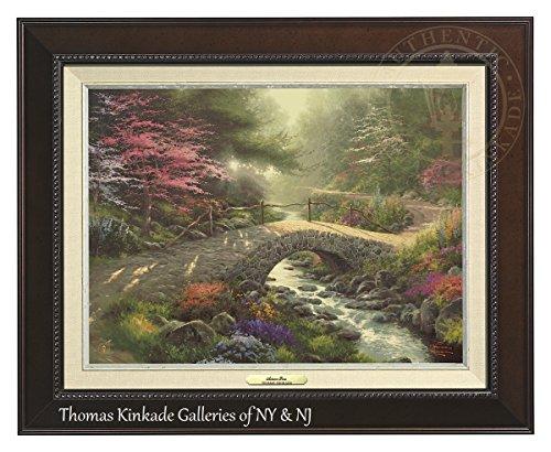 Thomas Kinkade Bridge of Faith 12'' X 16'' Canvas Classic (Espresso) by Thomas Kinkade