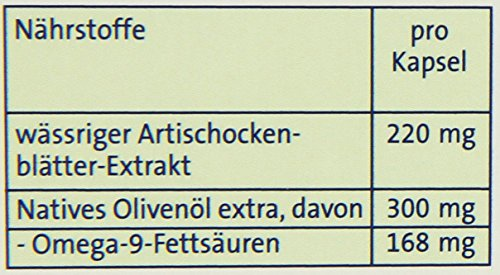 Abtei 43421 Artischocke plus Olivenöl, 30 Kapseln