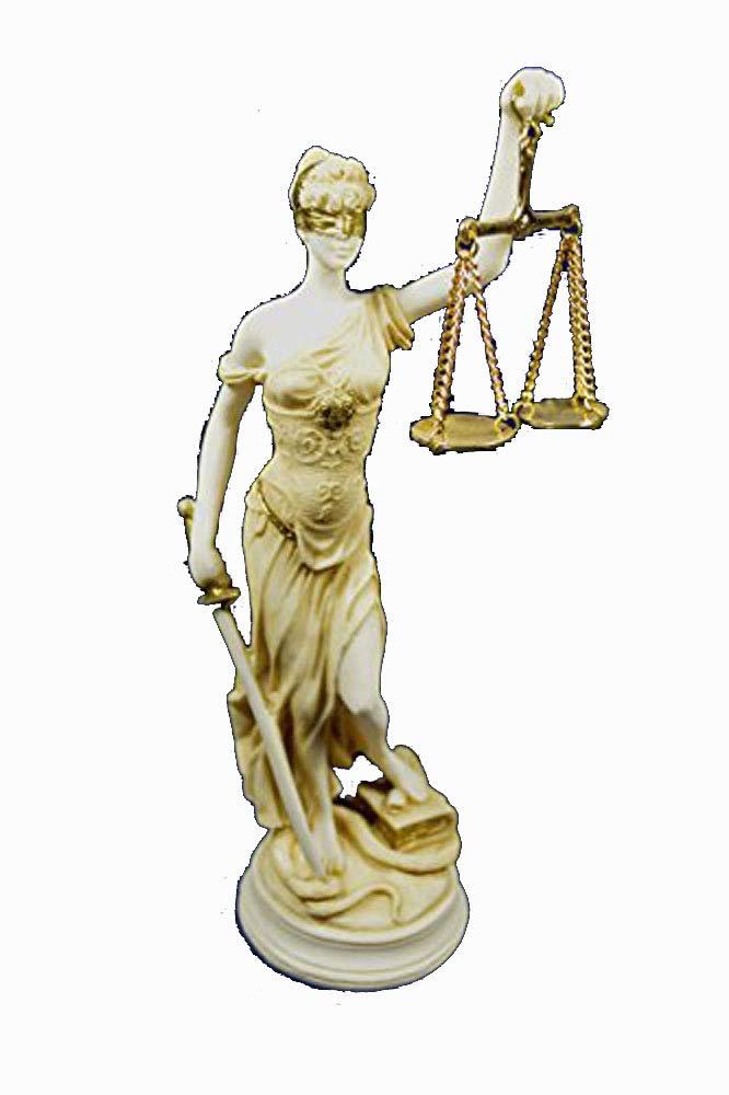 Scultura Themis dea della giustizia Artefatto invecchiato statue Estia Creations