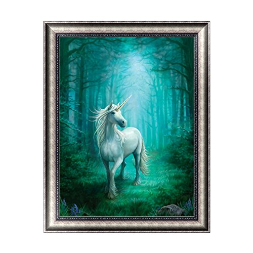 Painting Kids Wall Art (Kofun DIY Unicorn In The Forest 5D Diamond Painting Crystal Embroidery Crafts Cross Stitch Art Craft Home Room Wall Decor 30x38 cm)